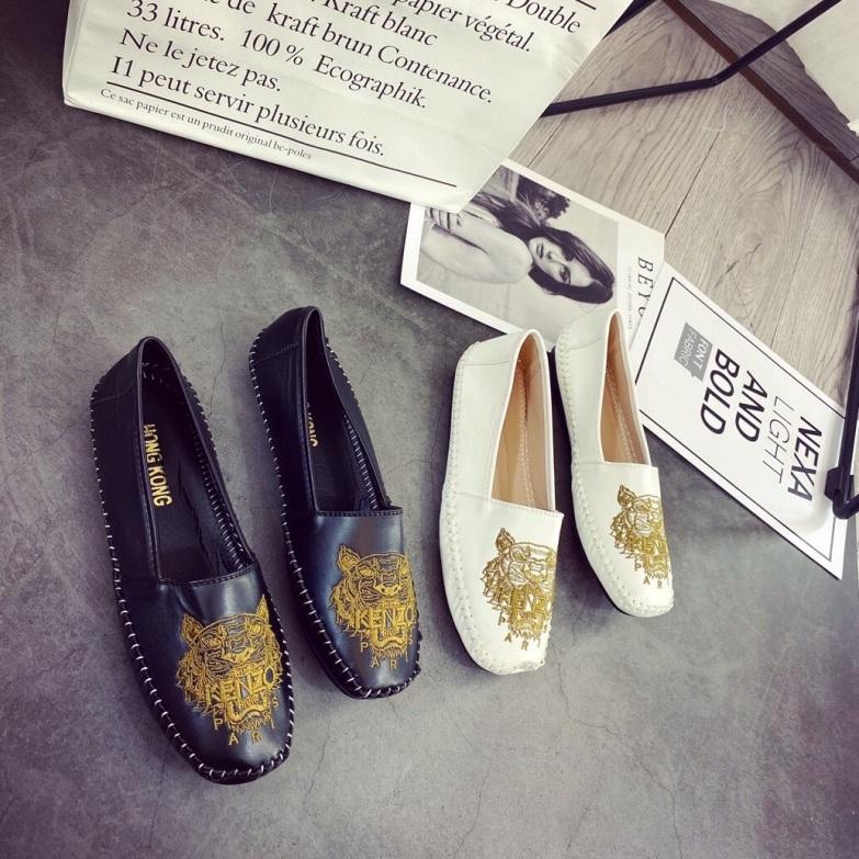 Giày mọc thêu cọp cực chất chất da mềm xịn giá rẻ