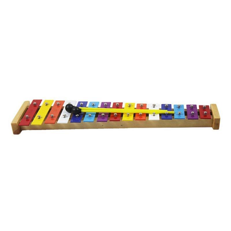 E-ERA Nhiều Màu Sắc 15 Màu Nhôm Đàn Organ Chắc Chắn Đế Gỗ Nhạc Cụ Gõ Đầu Giáo Dục Đồ Chơi Trẻ Em