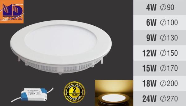 Đèn LED âm trần siêu mỏng  (18W-Φ195)