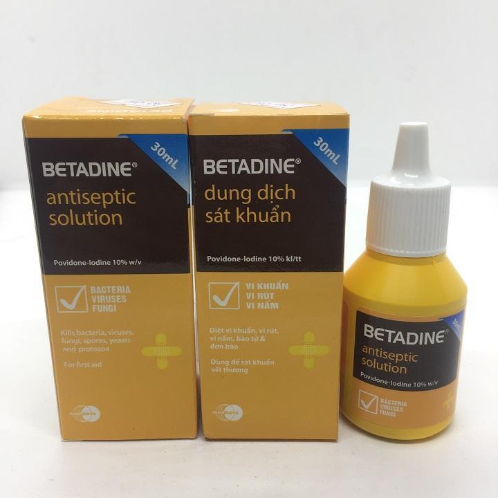 Betadine dung dịch sát khuẩn chai 30ml cao cấp