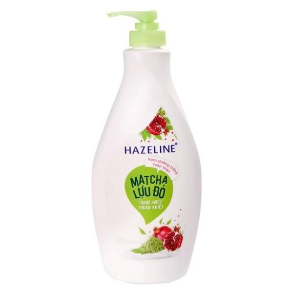 Sữa dưỡng thể dưỡng trắng Hazeline Matcha Lựu Đỏ 370ml