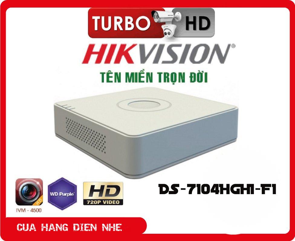 Đầu ghi hình Analog 4 kênh Hikvision DS-7104HGHI-F1