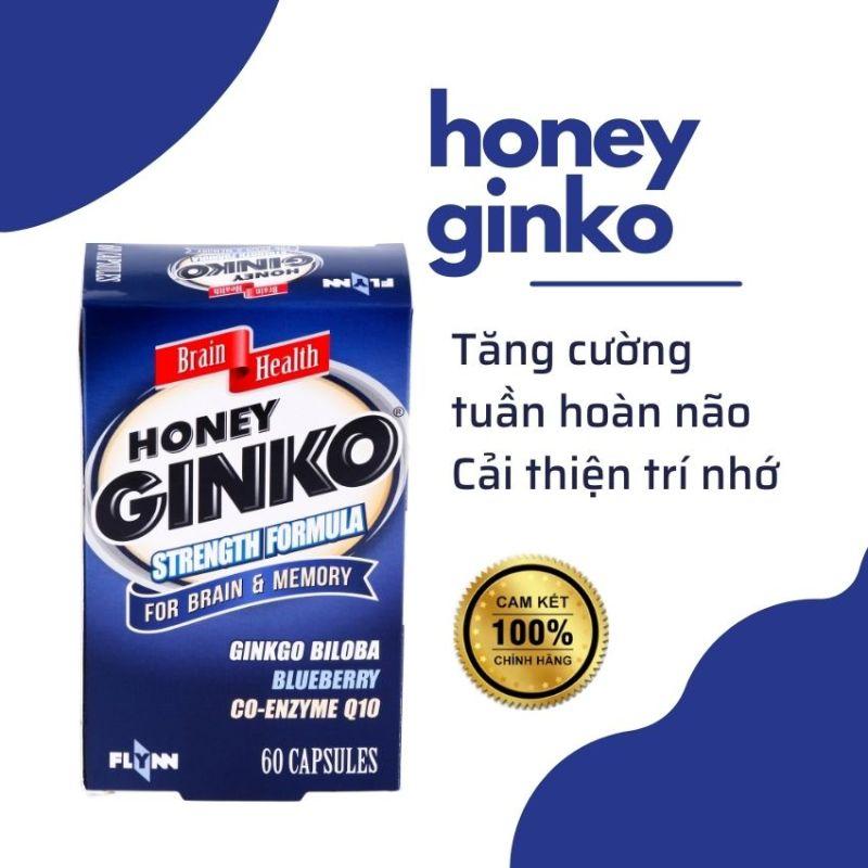 [FREESHIP] Viên Uống Bổ Mắt, Não Ginkgo Biloba Nhập Khẩu Nguyên Hộp Từ Vương Quốc Anh .Honey ginko giá rẻ