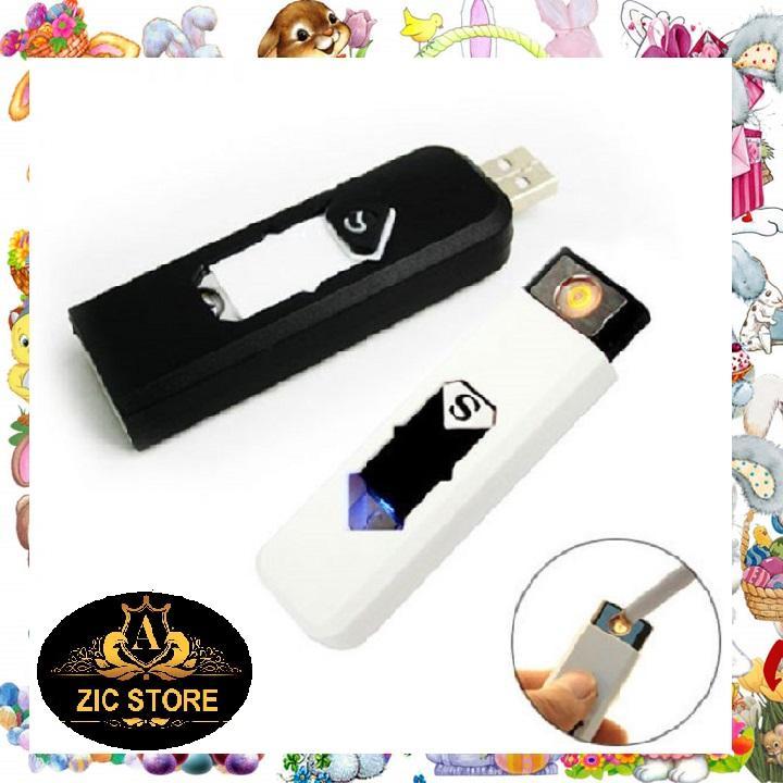 [Sốc Sốc Sốc] Bật lửa USB sạc điện hình chữ S (Màu đen,Màu trắng)-Hàng mới về-Zing Zic-Zic Store