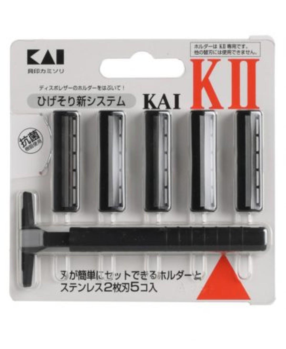Set dao cạo râu 2 lưỡi kép KAI (1 thân, 5 lưỡi) nội địa Nhật Bản tốt nhất