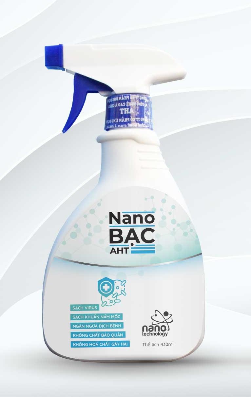 Deal Khuyến Mại Chai Xịt Làm Sạch Virus Nano Bạc AHT 430 Ml [ MUA 1 TẶNG 1]