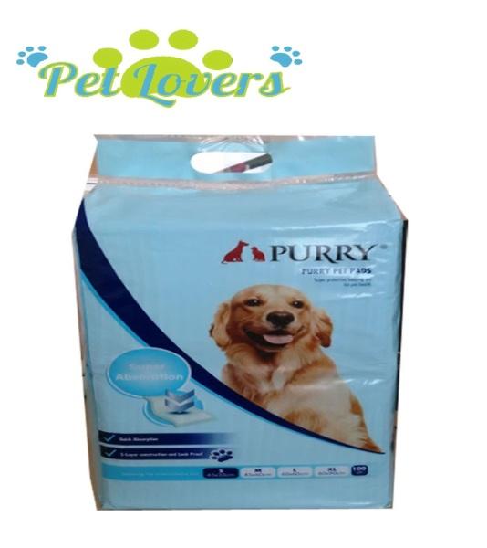 Purry - Giấy lót khay vệ sinh cho chó Purry (45*60cm) 50 miếng