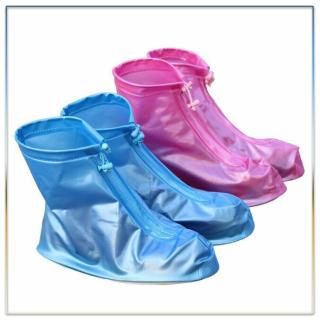 Giày Đi Mưa Dáng Bệt Cao Cổ Không Ngấm Nước Có Đế Chống Trơn Trượt, Ủng Đi Mưa Bảo Vệ Giày Dép, Áo Mưa Bọc Giày Chất Liệu Nhựa Dẻo Siêu Bền (GIAO MÀU NGẪU NHIÊN) thumbnail