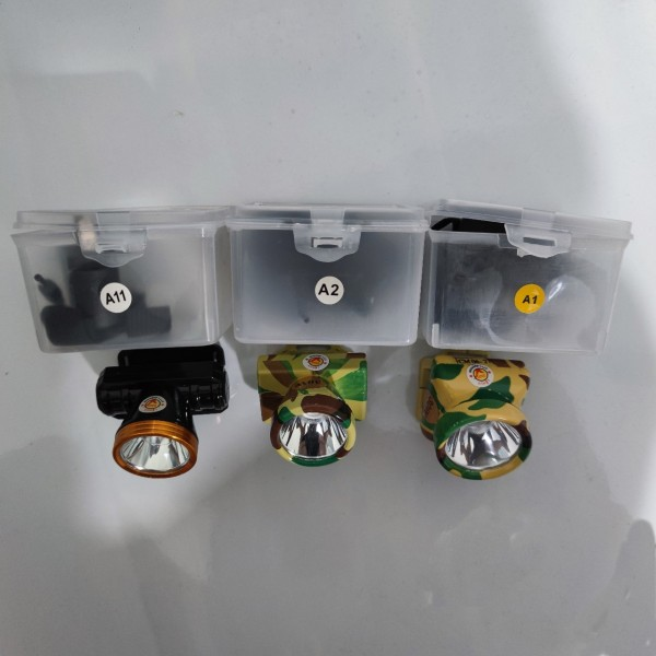 Đèn pin đội đầu siêu sáng tiết kiệm điện 30W A1 A2 A11 chất lượng cao Lệ Huy màu rằn ri đen vàng