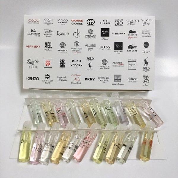 Set nước hoa mini 20 ống hộp trắng