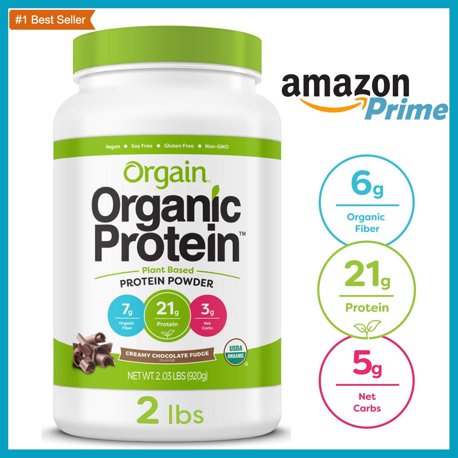 [Gym / Keto/ Vegan / Low Carb] Bột Đạm Dinh Dưỡng Protein Powder Organic - Orgain Protein Mỹ   Dành cho người ăn kiêng, chay, giảm cân cao cấp