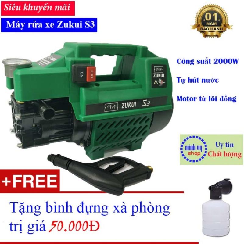 Máy xịt rửa xe mini gia đình Zukui S3 - công suất mạnh 2000W dễ dàng sử dụng
