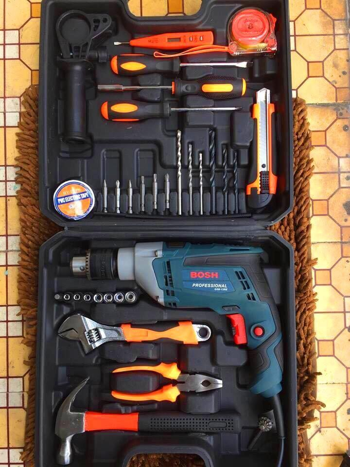 Bộ khoan valy Bosh 910W đủ đồ nghề