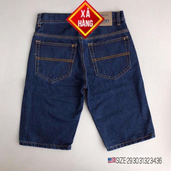 Quần short Jean nam cao cấp vải cực đẹp có size bự dễ thấm hút mồ hôi kiểu dáng quần short năng động phối túi cá tính- J002