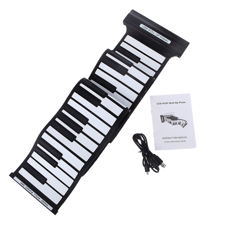 88 Keys USB Roll up Roll-up Electronic Piano Keyboard Professional