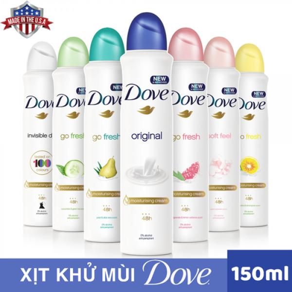 Xịt khử mùi Dove - Hàng Mỹ 150ml cao cấp