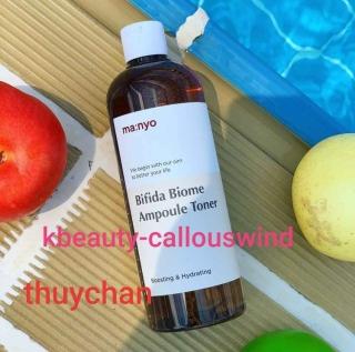 ( Manyo400ml) Nước hoa hồng Manyo Bifida Biome Ampoule Toner 400ml thumbnail