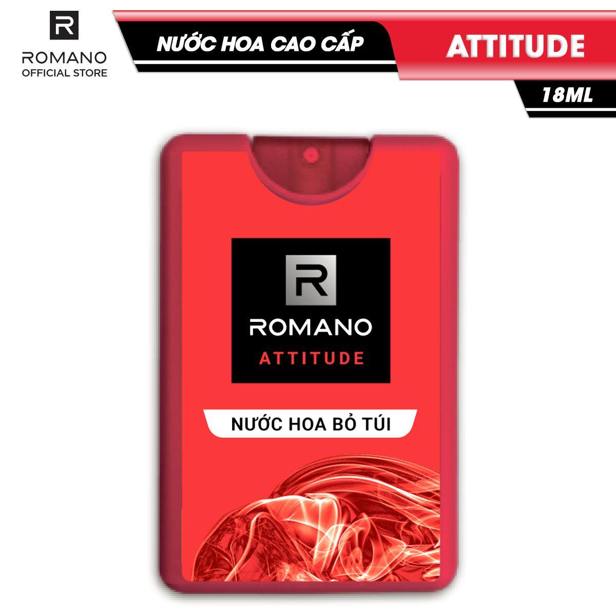 Nước hoa bỏ túi Romano Attitude nồng ấm quyến rũ 18ml nhập khẩu