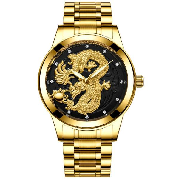 Đồng hồ thời trang nam dây thép mặt rồng FNGEEN PKHRFNG002 - Ngọa hổ tàng long