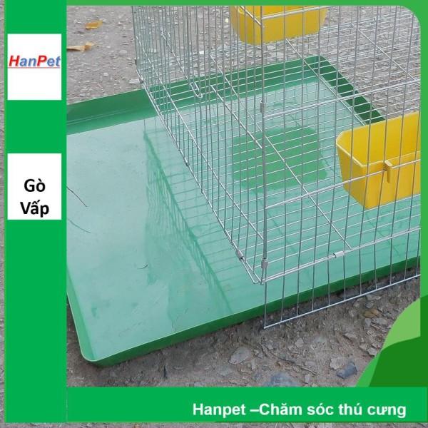 HCM -Lồng chim cảnh lắp ghép đủ phụ kiện ( 50x50x50cm) - Lồng thú cưng phủ kẽm màu trắng + tặng máng ăn, máng uống, khay / lồng chim / lồng bồ câu 50