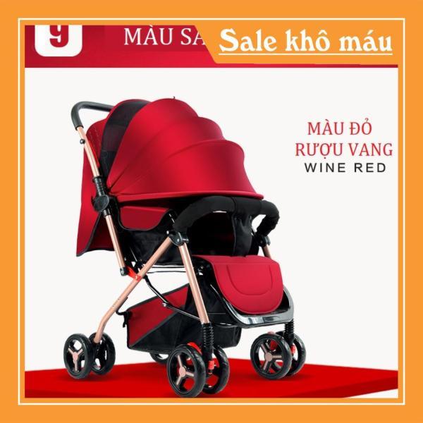 [HCM][Quà tặng] Xe đẩy em bé cao cấp 2 chiều 3 tư thế có giảm xóc bánh xe 360 độ đệm nằm êm ái không gian rộng rãi