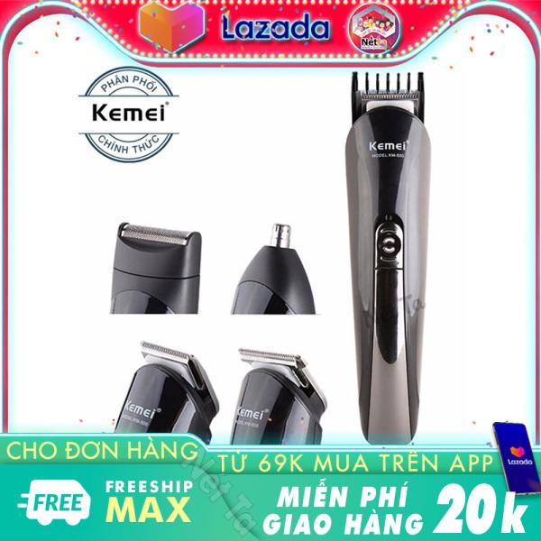 Tông đơ cắt tóc 4in1 Kemei KM-500 đa năng chuyên dụng cắt tóc, cao râu, tỉa lông mũi - Hãng phân phối chính thức