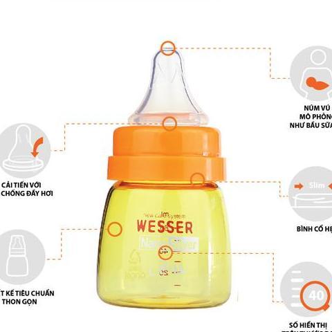 Shop Bình Sữa Wesser NANO SILVER kháng khuẩn Cổ hẹp...
