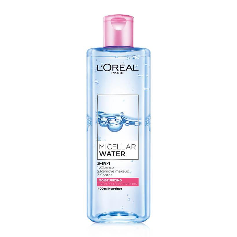 Nước tẩy trang dưỡng ẩm L'Oreal Paris Micellar Water 3 in1 95ml/400ml