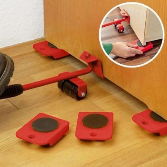 Bộ công cụ nâng đồ - di chuyển đồ vật dụng trong nhà một cách dễ dàng - Bộ dụng cụ nâng và di chuyển đồ đạc - Dụng cụ nâng và di chuyển tủ, bàn, giường, két sắt ... đa năng