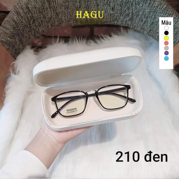 Giá bán Kính Gọng Cận 💗 Mắt kính form vuông gọng dẻo nhiều màu phong cách Hàn Quốc 210 chống tia UV kiểu dáng thời trang