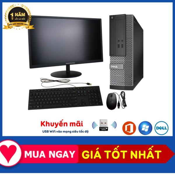 Bộ Máy Tính Để Bàn Đồng Bộ Dell Optiplex 3020/G3220/Ram 4G/SSD 120GB - Máy Bộ Văn Phòng - Tặng USB Wifi - BH 12T