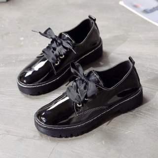 FCFFL22696 Mary Jane Giày Da Nhỏ Nữ 2020 Đầu Xuân Mới Kiểu Nhật Ins Sinh Viên Dễ Thương Hoang Dã Khóa Giày Tròn Cho Bé