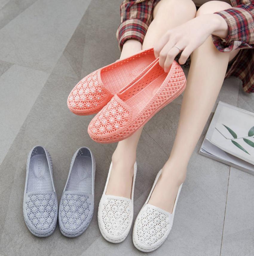 Giày nữ giày búp bê trẻ trung xinh xắn đính đá giá rẻ