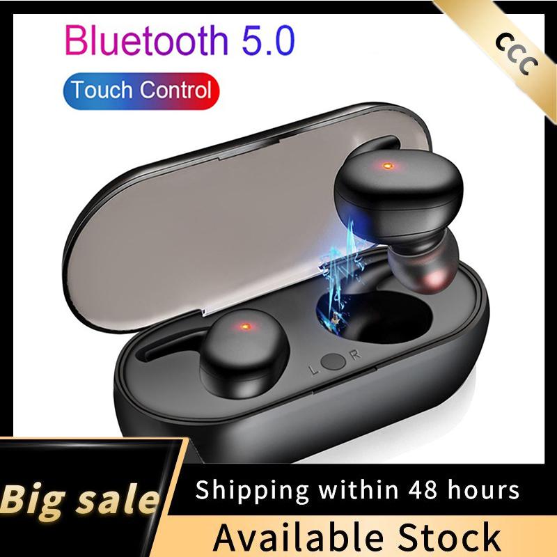 【Hàng Có Sẵn】 TWS Tai Nghe Bluetooth 5.0 Tai Nghe Tai Nghe Nhét Tai Mini Không Dây Âm Thanh Nổi Tai Nghe Thể Thao Tai Nghe Chơi Game Rảnh Tay Cho IOS Android Có Mic
