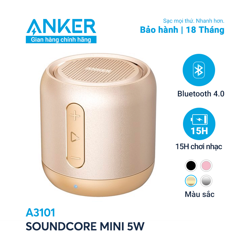 Loa bluetooth ANKER SoundCore Mini 5W - A3101