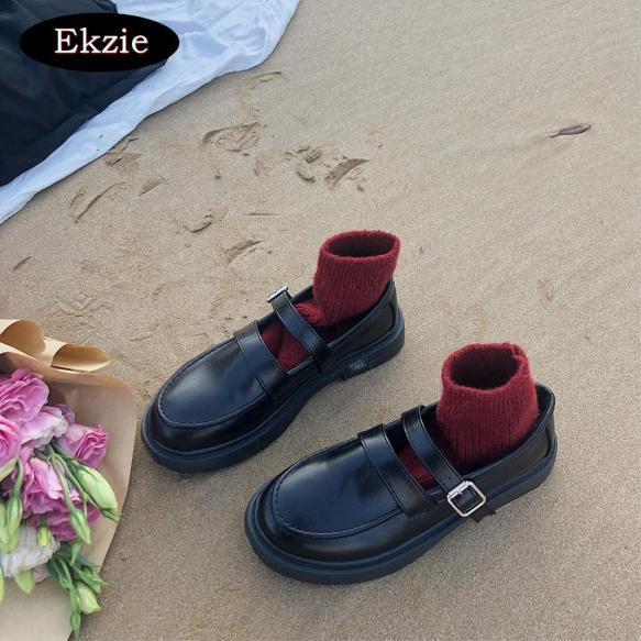 2020 mùa xuân mới phiên bản Hàn Quốc của phong cách cổ điển hoang dã Nhật Bản màu đen từ khóa đầu tròn gót thấp thoáng khí thời trang giản dị phong cách hàng ngày giày đơn jk đồng phục giày da nhỏ nữ sinh giá rẻ