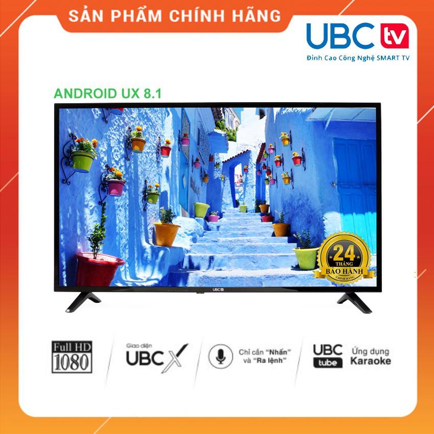 Smart Tivi UBC TV 43 inch HD Voice Search - Model 43VS (Đen) Tìm kiếm bằng giọng nói, Tích hợp DVB-T2