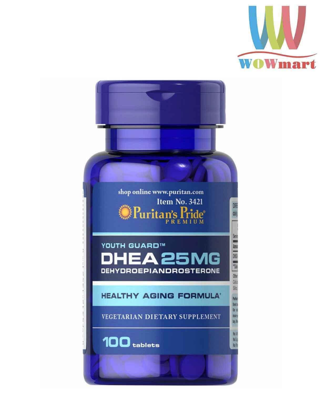 Viên uống tăng tiết tố nữ Puritans Pride DHEA 25MG Healthy Dietary Supplement 100 viên