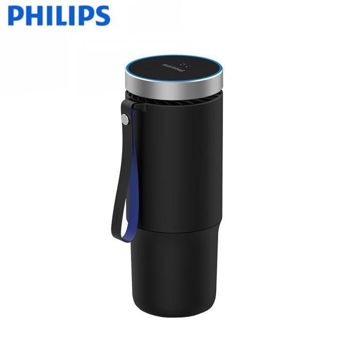 Máy khử mùi, lọc không khí dạng cốc trên xe ô tô cao cấp Philips GP5601 - Sử dụng hai bộ lọc HESAMax và SaniFiler Plus hiện đại