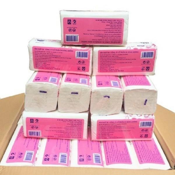 1 gói giấy ăn giấy rút cao cấp 300 tờ x 3 lớp siêu dai mềm mịn