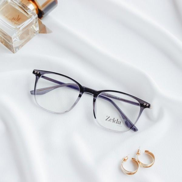 Giá bán [LẮP SẴN CẬN]Gọng kính cận nữ, gọng cận nhựa dẻo cốt kim loại, mắt kính vuông Z8876G
