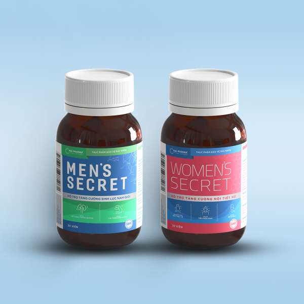 Combo sản phẩm hỗ trợ tăng cường sinh lý nam nữ - Mens Secret & Womens Secret