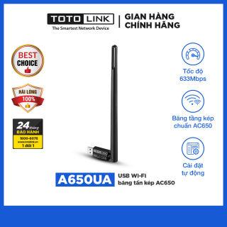 USB Wi-Fi băng tần kép AC650 – A650UA - TOTOLINK