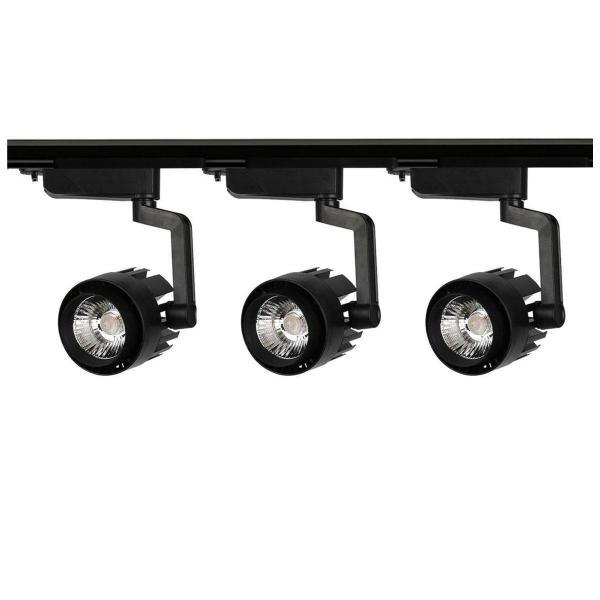 Combo 3 đèn rọi ray 20W + 1 ray 1 mét vỏ đen GX300 loại chuẩn