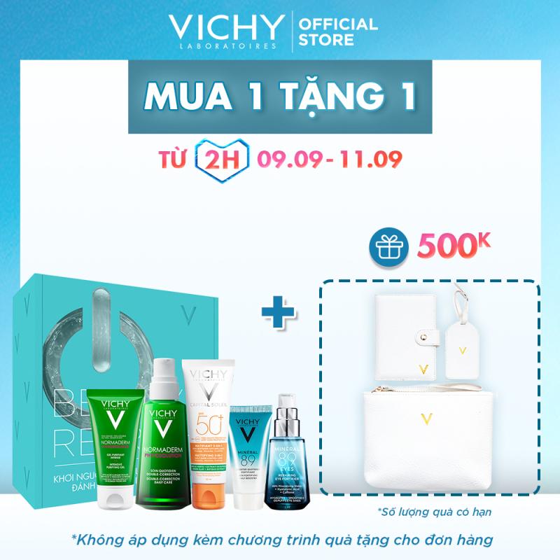 Bộ sản phẩm VICHY Beauty Refresh Box giúp làm sạch, giảm dầu ngừa mụn và bảo vệ tối ưu cho da dầu mụn giá rẻ