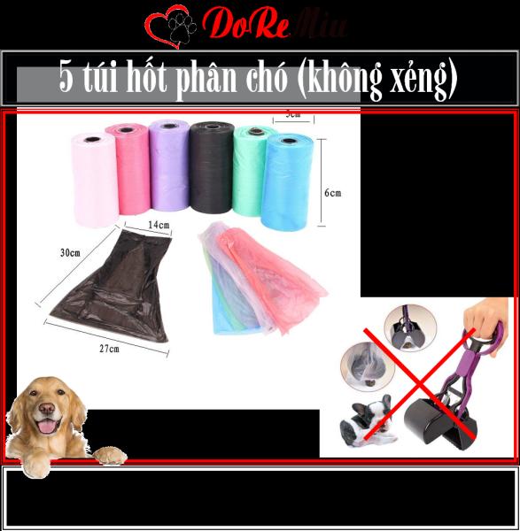 Doremiu- Xẻng gắp phân chó có cán hốt kít chó tiện dụng sạch sẽ 28cm (chọn màu)