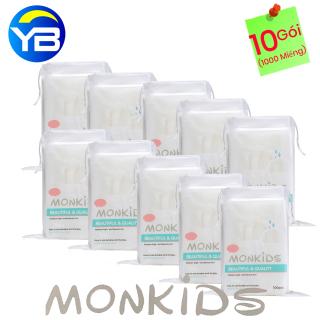 Combo 10 Gói Bông Tẩy Trang Monkids 100% cotton thumbnail