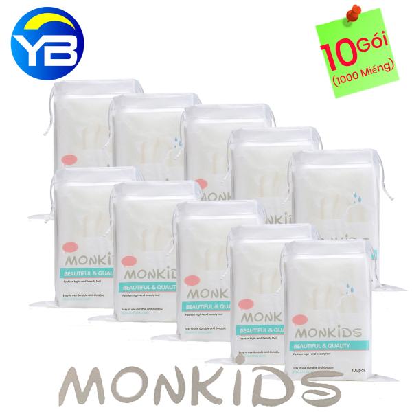 Combo 10 Gói Bông Tẩy Trang Monkids 100% cotton giá rẻ