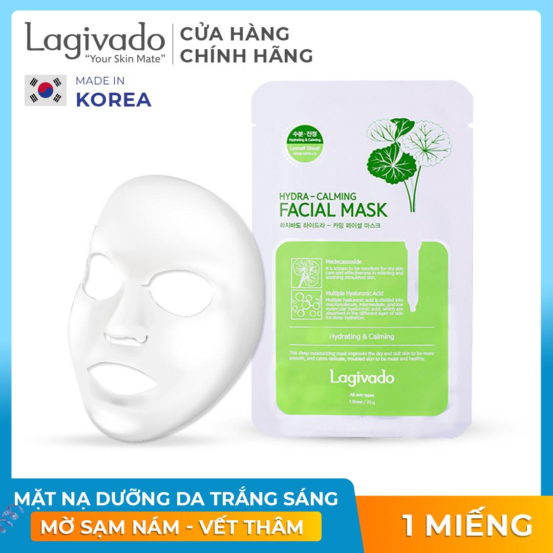 Mặt nạ dưỡng da siêu dưỡng ẩm, làm dịu da cho làn da căng bóng và mềm mịn Hàn Quốc Lagivado Hydra Calming Facial Mask dạng giấy