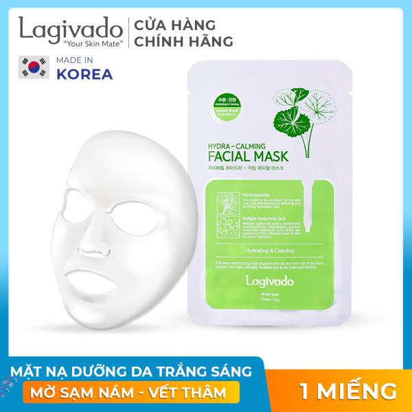 Mặt nạ dưỡng da trắng sáng Hàn Quốc chính hãng Lagivado đắp mặt thư giãn,  làm dịu da, cho làn da căng bóng và mềm mịn Hydra Calming Facial Mask dạng giấy nhập khẩu